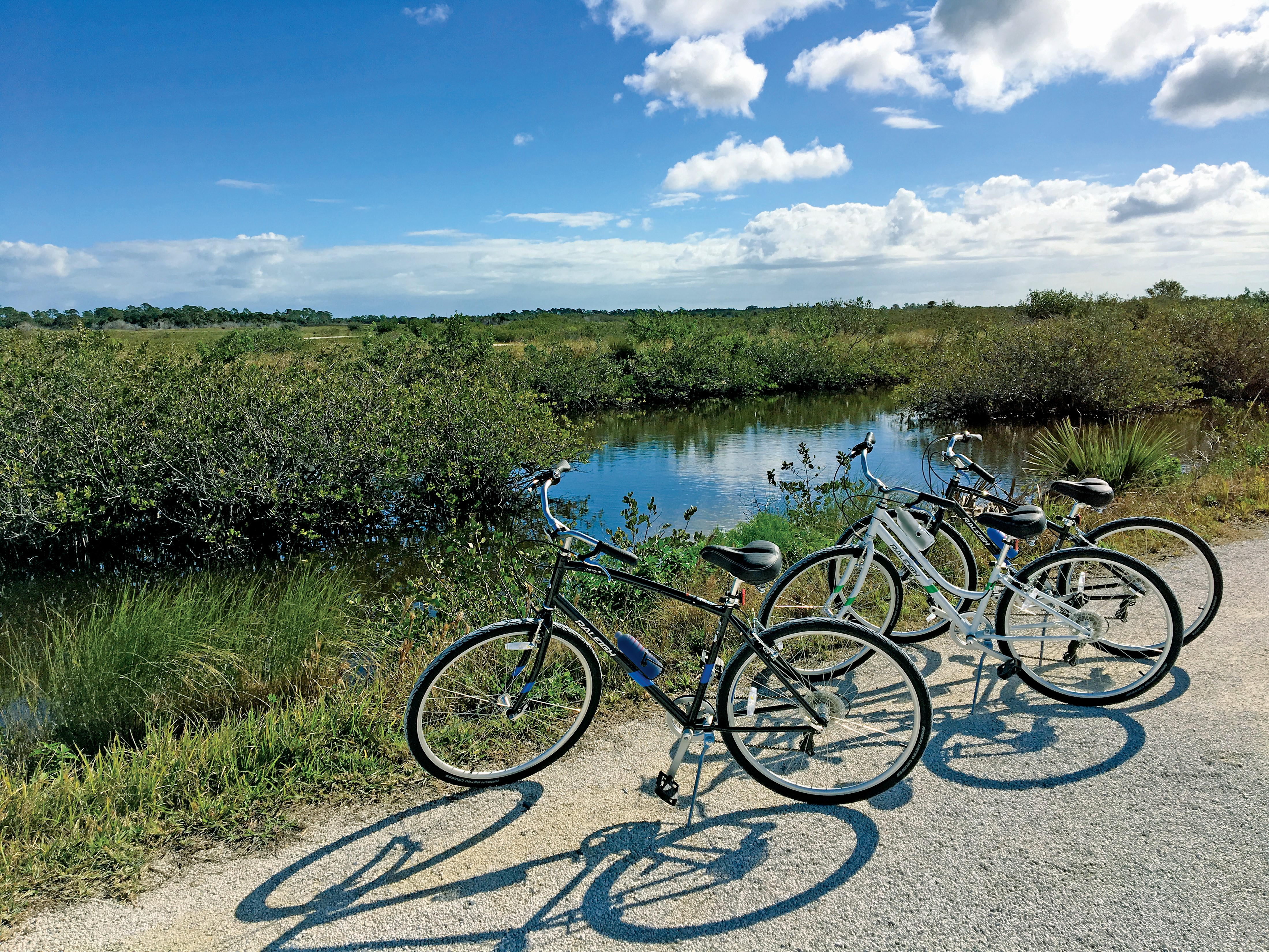 Bikes on the Trail in Titusville