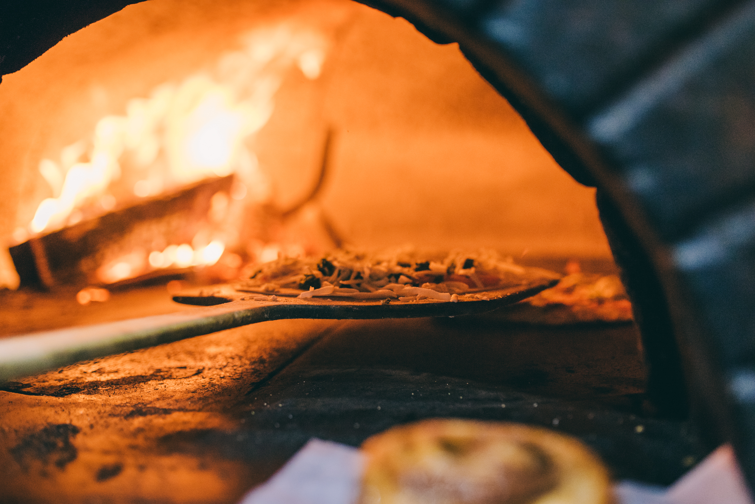 Wood-fired pizza at Ossorio's in Cocoa Village