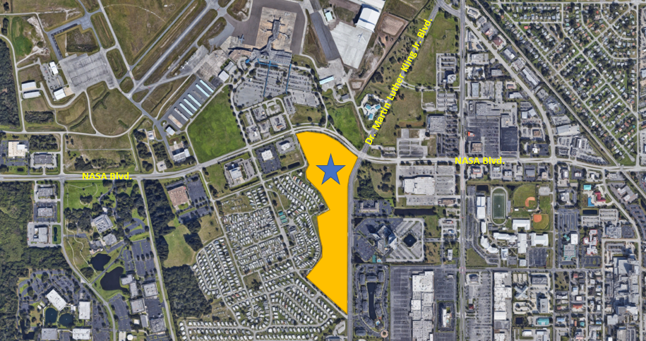 General Admission Parking for the Great Florida Air Show Map