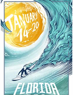 Florida Surf Pro event poster