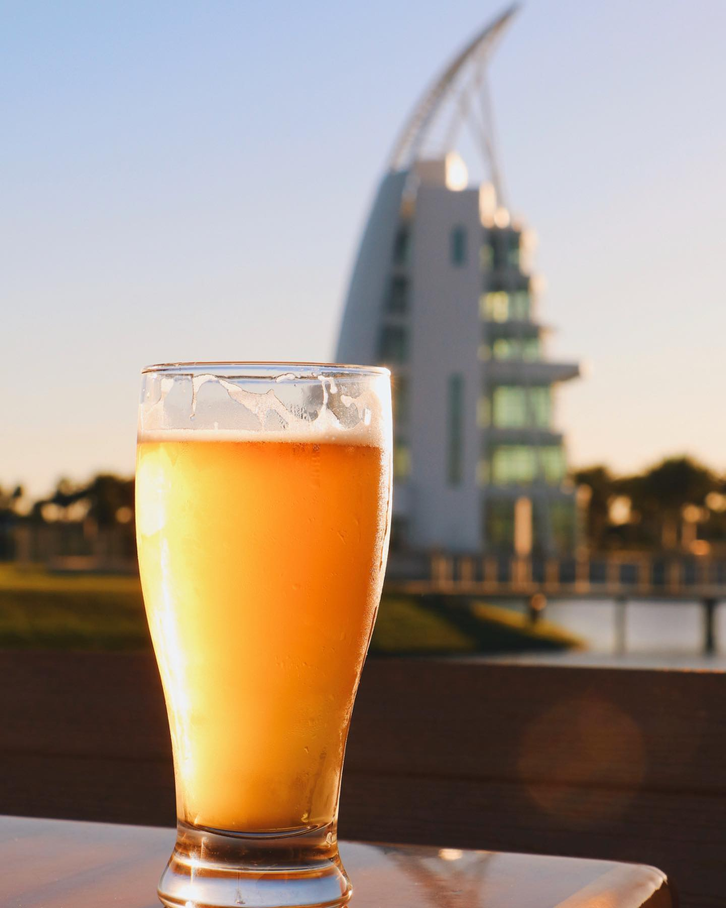 beer by exploration tower in port canaveral