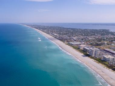 Aerial view of Florida Space Coast's beaches