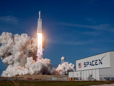 SpaceX Falcon Heavy rocket launch on Florida's Space Coast
