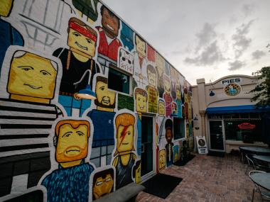 Wall murals located in the Eau Gallie Arts District in Melbourne, FL