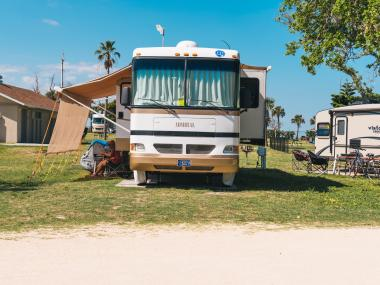 Camping with an RV at Jetty Park in Cape Canaveral, FL