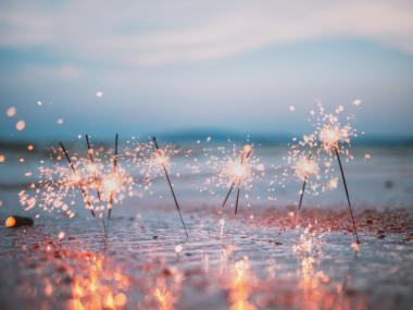 Sparklers on the Beach