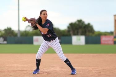 A USSSA Pride player playing at the USSSA Space Coast Complex in Viera, FL