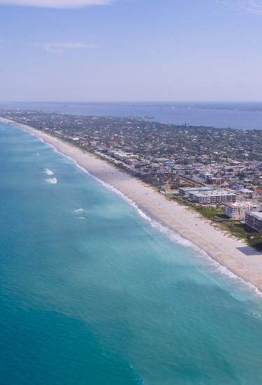 72 miles of beautiful beaches on Florida's Space Coast