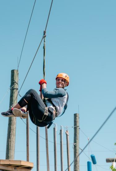 Get a birds-eye view and meet the challenge at Cocoa Beach Aerial Adventures