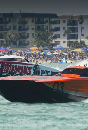 Watch boats race by the Westgate Cocoa Beach Pier at the Thunder on Beach event