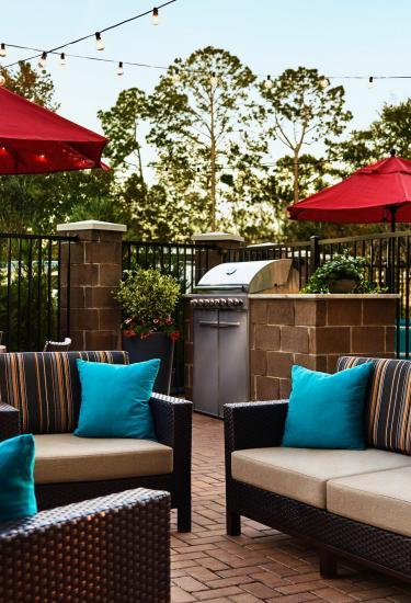 Patio at the TownePlace Suites by Marriott Titusville Kennedy Space Center