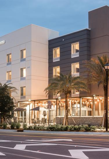 The exterior of the Fairfield Inn and Suites Melbourne-Viera