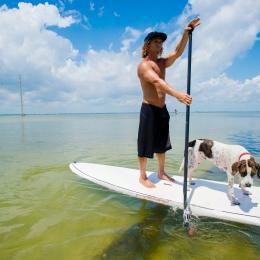 Stand-up Paddleboarding on the Banana River on Florida's Space Coast