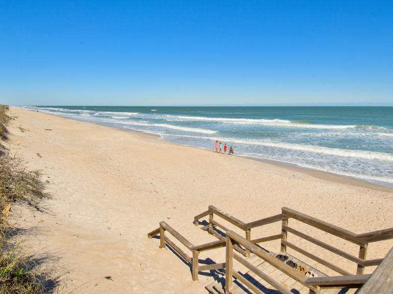 The beautiful natural beaches of the Canaveral National Seashore
