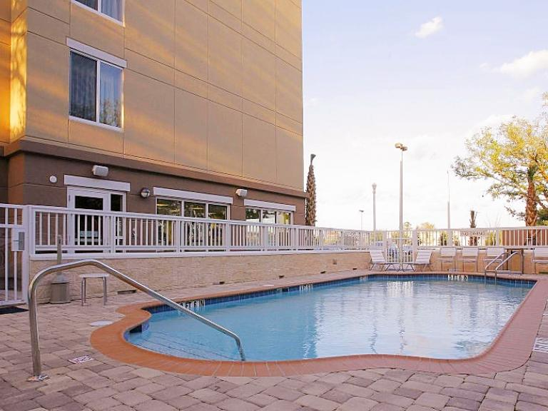 The pool at the Fairfield Inn & Suites Melbourne Palm Bay