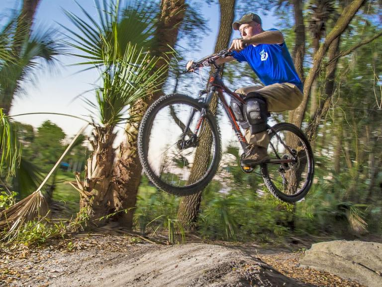 Extreme bike riding on the Grapefruit bike trails in Palm Bay, FL