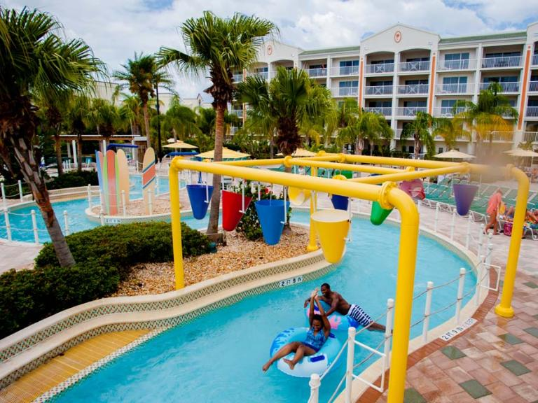 The lazy river at the Holiday Inn Club Vacations Resort in Cape Canaveral, FL