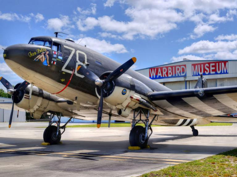 See vintage Warbird airplanes on display at the Valiant Air Command Warbird Museum in Titusville, FL