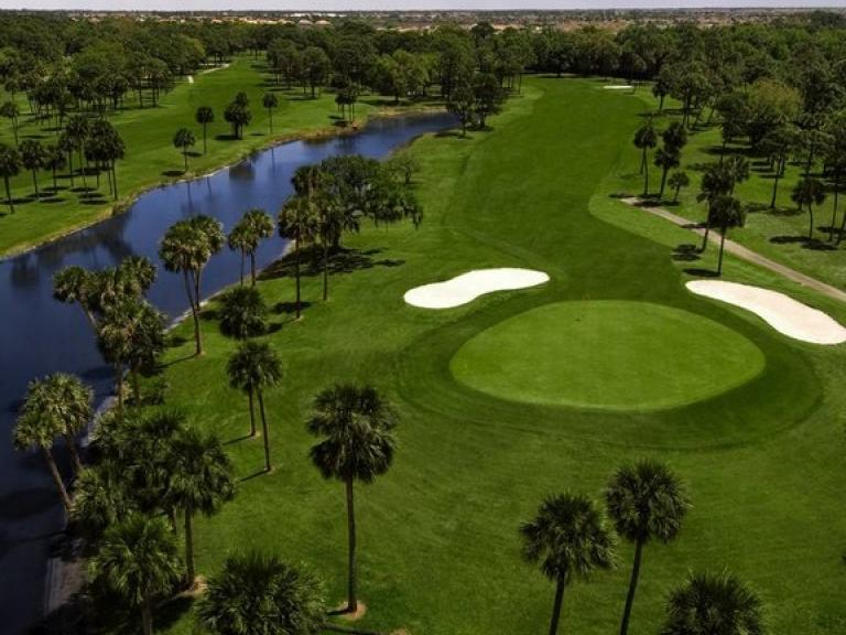 Aerial view of the course at Turtle Creek Golf Course in Rockledge, FL