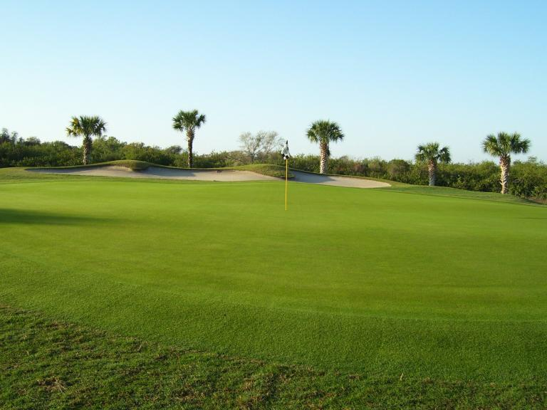 View of a green at the Viera East Golf Course in Viera, FL