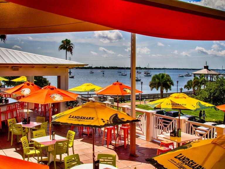 The view of the river from the upstairs patio at Ryan's Pizza & Pub in Cocoa Village