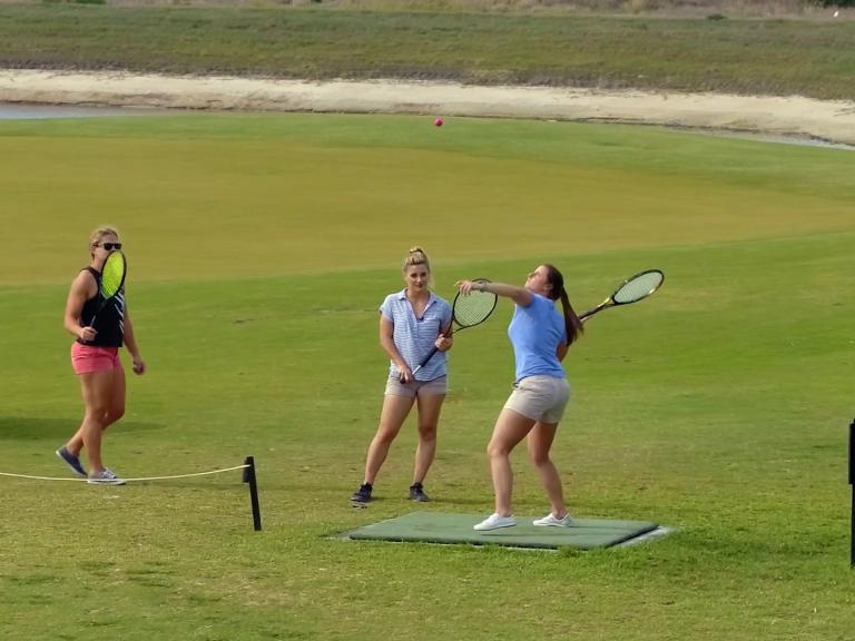 A group of women playing the new exciting game Smash Golf at the Duran Golf Club in Viera, FL