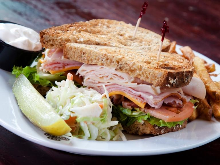 A fresh deli sandwich from the Grille at Baytree at the Baytree National Golf Links