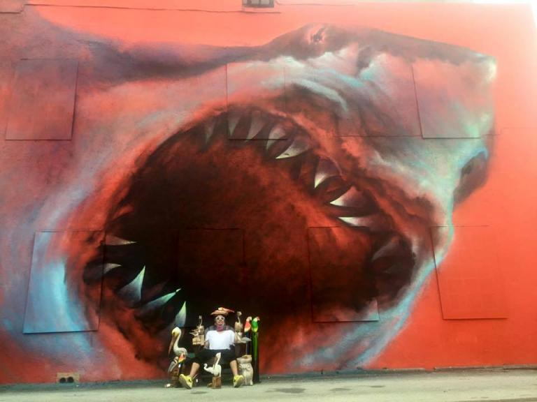 The Shark Toof wall mural in the Eau Gallie Arts District