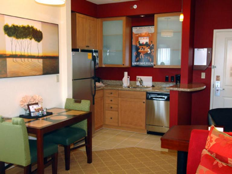A extended stay suite at the Residence Inn by Marriott in Melbourne, FL