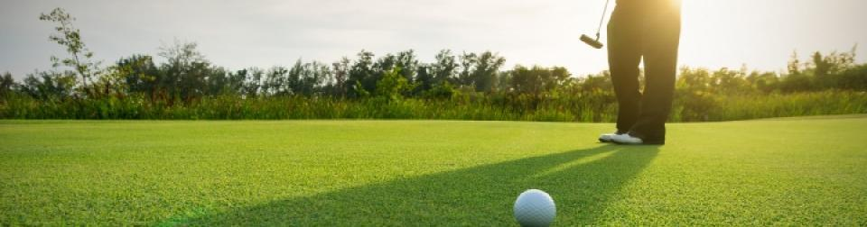 Putting on the green at the Crane Creek Reserve Golf Course in Melbourne, FL