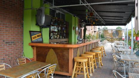 Outdoor seating at El Sombrero Mexican Cuisine