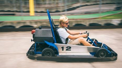 Andretti Thrill Park Riding Go Kart