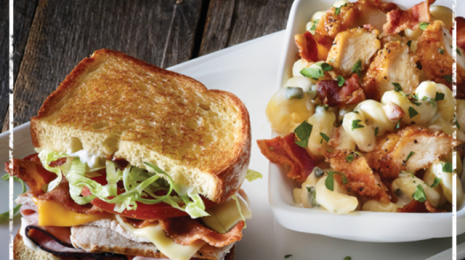Applebee's Sandwich and Pasta
