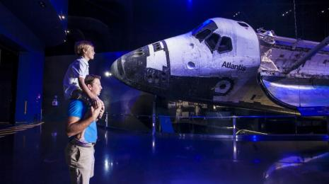 The Shuttle Atlantis Exhibit at the Kennedy Space Center Visitor Complex