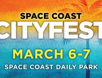 Space Coast City Fest Poster March 6-7 2021
