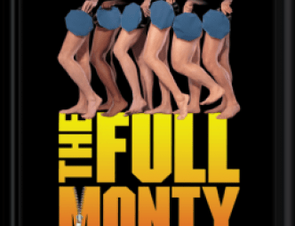 The Full Monty at the Henegar Center Logo with May 7 to May 23, 2021 show dates