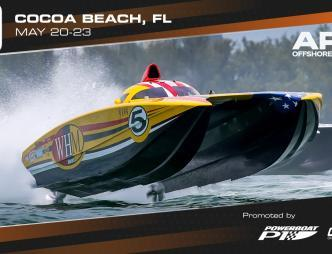 Thunder on Cocoa Beach 2021APBA Off Shore Championship Banner with May 20-23 dates