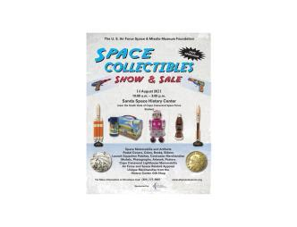 Space Collectibles Show flyer with date and contact information