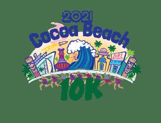 2021 Cocoa Beach 10k logo