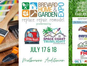 Brevard Home and Garden Expo Banner with Dates and sponsors