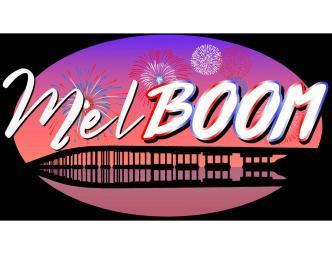 MelBOOM 4th of July Celebration Logo