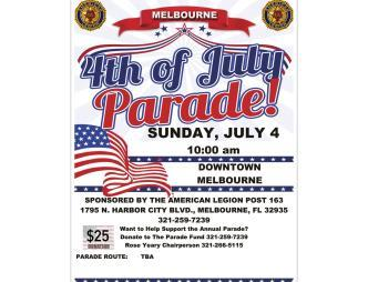 Melbourne's 4th of July Parade Flyer