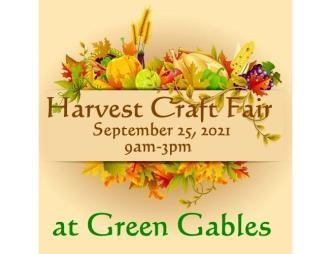 Green Gables Harvest Craft Fair flyer with date and time