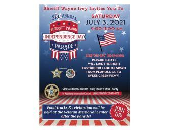 3rd Annual Merritt Island Independence Day Parade Wayne Ivey Invite Flyer