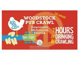 5th Annual Woodstock Pub Crawl Flyer