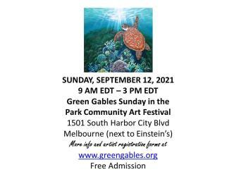 Green Gables Art Fair Flyer