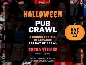 Cocoa Village Halloween Pub Crawl Banner