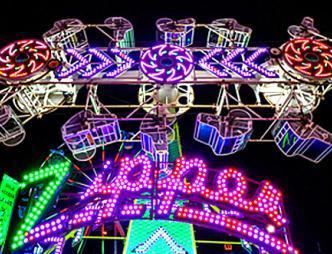 Zipper Ride at night