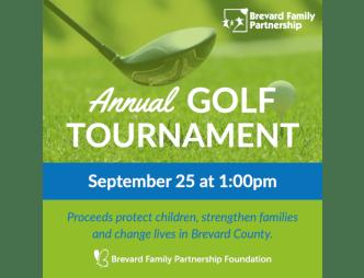 Brevard Family Partnership Golf Tournament Flyer
