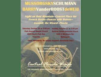 Central Florida Winds Event Flyer